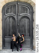 Купить «Portrait of beautiful couple, models of fashion, wearing spanish clothes», фото № 28535258, снято 15 декабря 2013 г. (c) Ingram Publishing / Фотобанк Лори