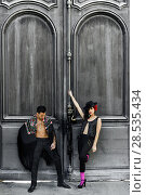 Купить «Portrait of beautiful couple, models of fashion, wearing spanish clothes», фото № 28535434, снято 15 декабря 2013 г. (c) Ingram Publishing / Фотобанк Лори
