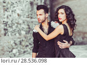 Купить «Portrait of beautiful couple, models of fashion, wearing spanish clothes», фото № 28536098, снято 15 декабря 2013 г. (c) Ingram Publishing / Фотобанк Лори