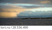 Scenic view of sea against cloudy sky, Nordland, Norway. Стоковое фото, фотограф Keith Levit / Ingram Publishing / Фотобанк Лори