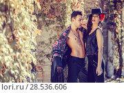 Купить «Portrait of beautiful couple, models of fashion, wearing spanish clothes», фото № 28536606, снято 15 декабря 2013 г. (c) Ingram Publishing / Фотобанк Лори