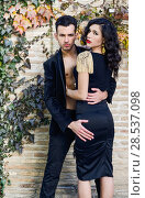Купить «Portrait of beautiful couple, models of fashion, wearing spanish clothes», фото № 28537098, снято 15 декабря 2013 г. (c) Ingram Publishing / Фотобанк Лори