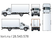 Купить «Truck template isolated on white», иллюстрация № 28543578 (c) Александр Володин / Фотобанк Лори