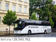 Купить «Irisbus Magelys Pro», фото № 28543762, снято 21 июля 2014 г. (c) Art Konovalov / Фотобанк Лори