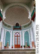 Купить «Воронцовский дворец. Алупка, Крым», фото № 28548770, снято 2 октября 2013 г. (c) Яна Королёва / Фотобанк Лори