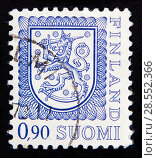 Finnish stamp of 90 pennies. Стоковое фото, фотограф Alexander Mirt / Фотобанк Лори