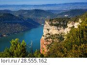 Sau reservoir from high point. Catalonia. Стоковое фото, фотограф Яков Филимонов / Фотобанк Лори