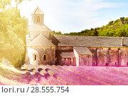Купить «Sunny day in Provence Senanque abbey», фото № 28555754, снято 18 июля 2017 г. (c) Сергей Новиков / Фотобанк Лори