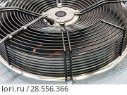 Купить «Powerful industrial fan. Climatic and ventilation technology.», фото № 28556366, снято 25 января 2017 г. (c) Андрей Радченко / Фотобанк Лори