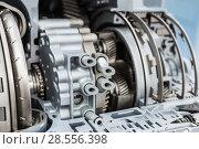 Купить «Modern hydromechanical gearbox. Automatic transmission.», фото № 28556398, снято 23 августа 2017 г. (c) Андрей Радченко / Фотобанк Лори