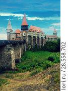 Купить «Corvin Castle, Hunedoara, Romania», фото № 28558702, снято 21 сентября 2017 г. (c) Яков Филимонов / Фотобанк Лори