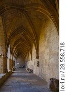 Купить «Courtyard of Cathedral of Saint Nazaire, Beziers», фото № 28558718, снято 1 декабря 2017 г. (c) Яков Филимонов / Фотобанк Лори