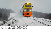 Купить «russian train winter», фото № 28566630, снято 13 февраля 2018 г. (c) Mark Agnor / Фотобанк Лори