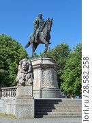 Купить «Коная статуя кайзера Вильгельма I в Штутгарте, Германия», фото № 28582258, снято 21 мая 2018 г. (c) Михаил Марковский / Фотобанк Лори