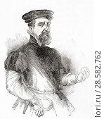 Купить «Sir Thomas Gresham the Elder, c. 1519 - 1579. English merchant and financier. From Old England: A Pictorial Museum, published 1847.», фото № 28582762, снято 5 июня 2020 г. (c) age Fotostock / Фотобанк Лори