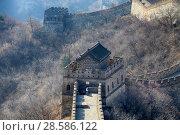 China, Beijing. the great Wall of China (2017 год). Стоковое фото, фотограф Яна Королёва / Фотобанк Лори