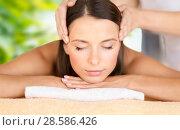 Купить «close up of beautiful woman having face massage», фото № 28586426, снято 25 июля 2013 г. (c) Syda Productions / Фотобанк Лори
