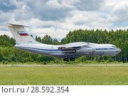Купить «Ил-76МД (бортовой RF-78809) на посадке, аэродром Мигалово, Тверь», эксклюзивное фото № 28592354, снято 10 июня 2018 г. (c) Alexei Tavix / Фотобанк Лори