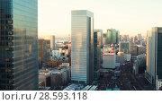 Купить «view to tokyo city and railway station in japan», видеоролик № 28593118, снято 9 июня 2018 г. (c) Syda Productions / Фотобанк Лори