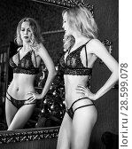 woman model in room in sexy lace lingerie. Стоковое фото, фотограф katalinks / Фотобанк Лори