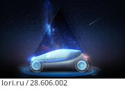 Купить «futuristic concept car over space background», фото № 28606002, снято 22 августа 2019 г. (c) Syda Productions / Фотобанк Лори