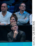 Купить «Kevin Spacey watches the action during the men's singles semi final between Andy Murray of Great Britain and Milos Raonic of Canada on day seven of the...», фото № 28609906, снято 19 ноября 2016 г. (c) age Fotostock / Фотобанк Лори