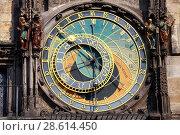 Купить «Astronomical Clock in Prague, Czech Republic», фото № 28614450, снято 21 апреля 2013 г. (c) Яна Королёва / Фотобанк Лори