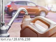 Купить «part of oil spill pump and plastic canister», фото № 28616238, снято 19 июня 2018 г. (c) Дмитрий Бачтуб / Фотобанк Лори