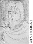 Купить «Portrait of a bearded man. An imaginary portrait of an ancient Russian hero», иллюстрация № 28616274 (c) Олег Хархан / Фотобанк Лори