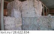 Купить «Recycling of garbage Cardboard paper production», видеоролик № 28622834, снято 14 июня 2018 г. (c) Aleksejs Bergmanis / Фотобанк Лори