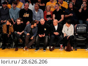 Купить «Celebrities at the Los Angeles Lakers game. The Golden State Warriors defeated the Los Angeles Lakers by the final score of 109-85 at the Staples Center...», фото № 28626206, снято 25 ноября 2016 г. (c) age Fotostock / Фотобанк Лори
