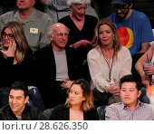 Купить «Celebrities at the Los Angeles Lakers game. The Golden State Warriors defeated the Los Angeles Lakers by the final score of 109-85 at the Staples Center...», фото № 28626350, снято 25 ноября 2016 г. (c) age Fotostock / Фотобанк Лори
