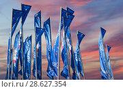 Купить «Welcome flags in honour of the 2018 FIFA World Cup in Russia», фото № 28627354, снято 15 июня 2018 г. (c) Владимир Журавлев / Фотобанк Лори