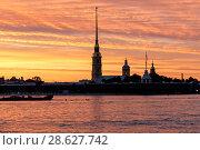 Купить «Петропавловская крепость. Санкт-Петербург», эксклюзивное фото № 28627742, снято 23 июня 2018 г. (c) Александр Щепин / Фотобанк Лори