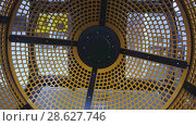 Купить «Cylindrical sifter. Equipment for sifting of soil, crushed stone and other loose building materials», видеоролик № 28627746, снято 10 июня 2018 г. (c) Андрей Радченко / Фотобанк Лори