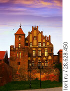 Купить «Teutonic Knights Castle, Torun, Poland», фото № 28628450, снято 11 мая 2018 г. (c) Яков Филимонов / Фотобанк Лори