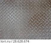 Купить «Металлическая поверхность с текстурой», фото № 28628674, снято 28 мая 2010 г. (c) FMRU / Фотобанк Лори