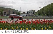 Купить «Центр города Петропавловска-Камчатского», видеоролик № 28629302, снято 24 июня 2018 г. (c) А. А. Пирагис / Фотобанк Лори