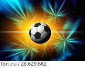 Купить «Football illustration for championship», иллюстрация № 28629662 (c) ElenArt / Фотобанк Лори