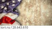 Купить «Composite image of creased us flag», фото № 28643610, снято 8 июля 2020 г. (c) Wavebreak Media / Фотобанк Лори