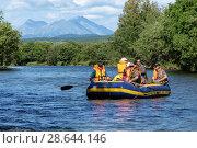 Купить «Летний сплав по реке», фото № 28644146, снято 25 июля 2016 г. (c) А. А. Пирагис / Фотобанк Лори