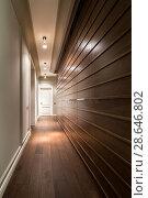 Купить «Corridor in modern style», фото № 28646802, снято 13 апреля 2017 г. (c) Andriy Bezuglov / Фотобанк Лори