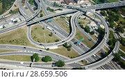 Купить «Image of car interchange of Barcelona in the Spain.», видеоролик № 28659506, снято 23 июня 2018 г. (c) Яков Филимонов / Фотобанк Лори