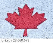 Canada flag painted on background. Стоковое фото, фотограф Ирина Аринина / Фотобанк Лори