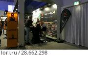 Купить «Pavilion Xtorm at IFA, Messe, Berlin, Germany», видеоролик № 28662298, снято 25 мая 2017 г. (c) BestPhotoStudio / Фотобанк Лори