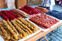 Купить «Churchkhela. Traditional Georgian candy with nut», фото № 28664418, снято 28 октября 2016 г. (c) Дмитрий Калиновский / Фотобанк Лори