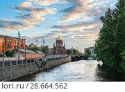 Санкт-Петербург. Богоявленская церковь. Epiphany Church on the Obvodny Canal (2018 год). Стоковое фото, фотограф Baturina Yuliya / Фотобанк Лори
