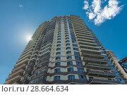 Купить «Modern building exterior», фото № 28664634, снято 18 июля 2018 г. (c) Ольга Сапегина / Фотобанк Лори