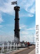 Купить «Башня-маяк в парке 300-летия Санкт-Петербурга», эксклюзивное фото № 28676378, снято 18 июня 2018 г. (c) Александр Щепин / Фотобанк Лори