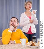 Купить «Mother and son arguing», фото № 28688974, снято 19 февраля 2019 г. (c) Яков Филимонов / Фотобанк Лори